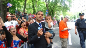 Film Still - Louis shows up at the NYC Puerto Rico Day Parade 2009